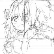 astolfo kuro_no_rider lanling rider_of_black sketch // 1098x1100 // 194.1KB