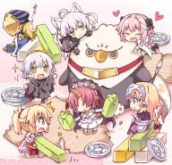 astolfo atalanta atalanta_alter avicebron chibi frankenstein hippogriff hippogriff_plushie jack_the_ripper kuro_no_rider mordred rider_of_black // 850x822 // 650.2KB