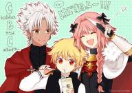 amakusa astolfo gilgamesh kid_gil kuro_no_rider rider_of_black // 800x565 // 894.4KB