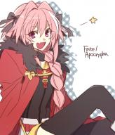 astolfo kuro_no_rider rider_of_black sitting smiling // 449x524 // 194.2KB